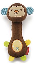 Dog Toy Pet Toys Interactive Squeak / Squeaking Brown Plush