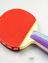 Table Tennis Rackets Ping Pang Wood Long Handle Pimples 2 Rackets 1 Table Tennis Ball Indoor-#