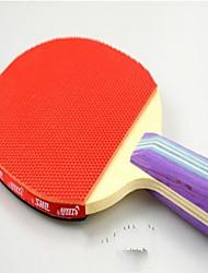 Tennis de table Raquettes Ping Pang Bois Long Manche Boutons 2 Raquette Balles de Tennis de Table Intérieur-#