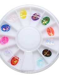 1pcs 6cm Turn Boxed Nail Jewelry Oval Symphony Glass Resin Gem Drilling