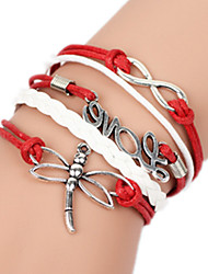Bracelet Bangles Alloy Love Handmade Birthday / Daily Jewelry Gift Red,1pc