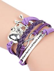 Feminino Bracelete Liga Moda Confeccionada à Mão Caveira Jóias Jóias 1peça