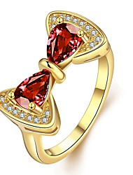 Ring Jewelry Zircon Cubic Zirconia Gold Plated Rose Gold Plated Gold Rose Jewelry Casual 1 pair