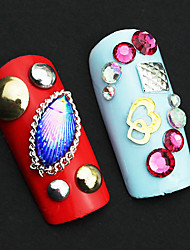 2 Color 3D Nail Art Tips Gems Crystal Glitter Rhinestone DIY Nail Decoration Whee