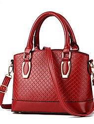 M.Plus® Women's Fashion Plaid PU Leather Messenger Shoulder Bag/Handbag Tote