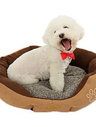 Cat / Dog Bed Pet Mats & Pads Casual/Daily Brown Plush