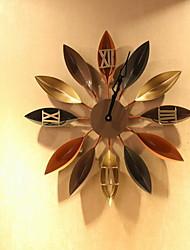 Moderno/Contemporáneo Tradicional Casual Vacaciones Cumpleaños Reloj de pared,Redondo Novedad Metal Interior Reloj