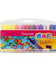 2504 pode ser lavado com 36 cores de crianças escovas rotativas de graffiti de petróleo vara pintura