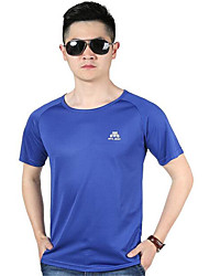 Running Tops Men's Short Sleeve Breathable / Quick Dry / Wearable / Comfortable PolyesterExercise & Fitness / Racing / Basketball /