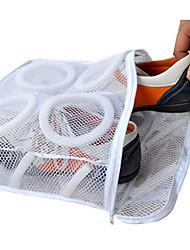 lavado portátil de tela para bolsas de zapatos&polvo cajas de zapatos a prueba de lavado colgantes se preocupan blanco