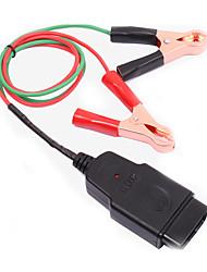 OBD II cable conector de memoria obd2 protector con 2 pinzas de cocodrilo