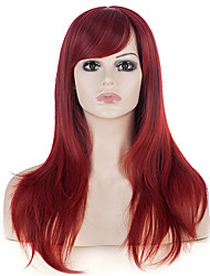 24Long Straight Wine Red Hair Women Black Friday Discount Christmas Festival Wigs