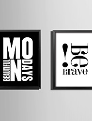 E-HOME® Framed Canvas Art Brave Letters Theme Series Framed Canvas Print One Pcs