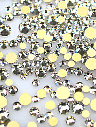 1440pcs/pack Hot Fashion 3D SS3-SS16 Nail Art Shinny Rhinestones Nail Gold Bottom Crystal For Nail Decoration ND284