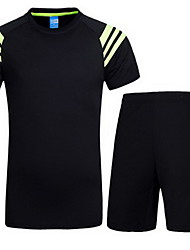 Women's Short Sleeve Running Sweatshirt Clothing Sets/Suits Breathable Sweat-wicking Summer Sports WearYoga Exercise & Fitness Racing