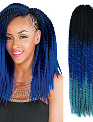 Preto ombre safira azul havana crochet torção tranças extensões de cabelo 22 kanekalon 2 vertente 120g gram cabelo tranças