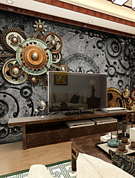 JAMMORY 3D Wallpaper For Home Contemporary Wall Covering Canvas Material Mechanical GearXL XXL XXXL