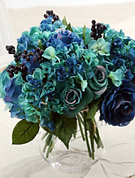 Silk Roses Artificial Flowers Wedding Flowers 1pc/set