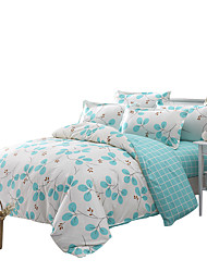 Mingjie Blue Leaves Bedding Sets 4PCS for Twin Full QueenSize from China Contian 1 Duvet Cover 1 Flatsheet 2 Pillowcases