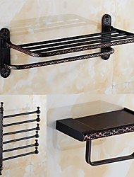 A Set of Three Products(Toilet Paper Holder/Bathroom Shelf/Towel Warmer/Towel Bar)of  Oil Rubbed Bronze