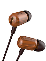 DZAT DF-10 In Ear Earphone Wood Earphone Bass HIFI Wooded Earphone With Mic for iphone samsung xiaomi huawei