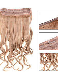 5 Clips Wavy Strawberry Blonde (#27) Synthetic Hair Clip In Hair Extensions For Ladies more colors available