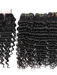 4 предмета Крупные кудри Ткет человеческих волос Бразильские волосы 100g per bundle 8inch-28inch Расширения человеческих волос