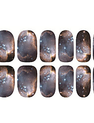 1pc Japan Harajuku The Starry Sky The Back Glue Nails Slice Stickers 12 Post