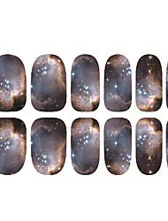 1pc japon Harajuku le ciel étoilé les ongles de colle arrière tranche autocollants 12 après