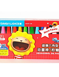 Two Pack Sell Students Painting 12 Color Crayons Non-Toxic Can Be Washed