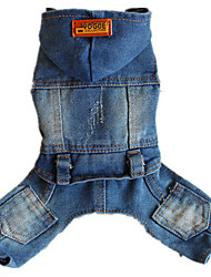 Dog Clothes/Jumpsuit Dog Clothes Casual/Daily Jeans Pool