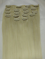 15#613 Bleach Blonde Remy Human Hair Extensions 8Pcs/set(70g)