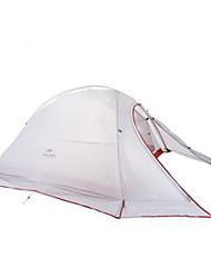 NatureHike® 2 personnes Tente Double Une pièce Tente de camping Toile Aluminium SiliconeRésistant à l'humidité Etanche Respirabilité