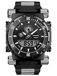 INFANTRY Men's Sport Watch / Military Watch Digital / Japanese Quartz LED / Calendar / Chronograph / Dual Time Zones / Alarm / Stopwatch / Luminous