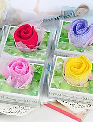 Birthday Gift Roses Shape Fiber Creative Towel (Random Color)