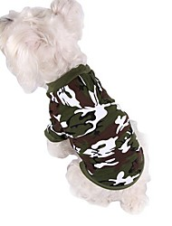 Dog Coat / Hoodie Green / Pink / Gray Dog Clothes Winter Camouflage Sports / Fashion