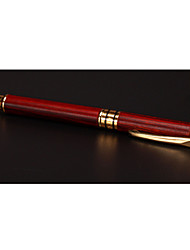 Lobular Red Sandalwood Steel Pen Wenfang Four Treasures Mahogany Handicrafts Signature Pen Business Gifts