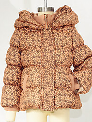 Girl Casual/Daily Floral Jacket & Coat,Polyester Winter Long Sleeve