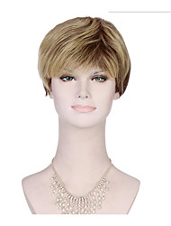 6A Synthetic Cosplay Natural Wigs Women's Short Straight Medium Brown/Blonde Wig Heat Resistant Fiber Wig