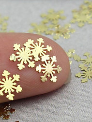 100 Pieces Of 6 X6 Mm Snowflake Electroplating Sell Like Hot Cakes Nail Strips Snowflake