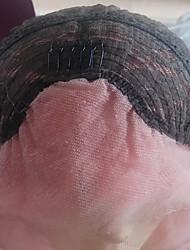 жен. Парики из искусственных волос Лента спереди Прямые Розовый Природные волосы Парик из натуральных волос Карнавальные парики
