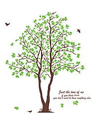 стикеры стены наклейки на стены, зеленое дерево наклейки стены PVC