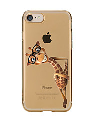 For iPhone X iPhone 8 iPhone 7 iPhone 6 iPhone 5 Case Case Cover Transparent Pattern Back Cover Case Animal Soft TPU for Apple iPhone X