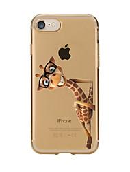 Назначение iPhone X iPhone 8 iPhone 7 iPhone 6 Кейс для iPhone 5 Чехлы панели Прозрачный С узором Задняя крышка Кейс для Животное Мягкий