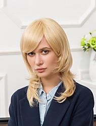 elegante capless perruques de cheveux humains droite naturelle