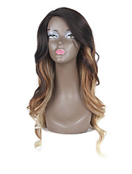 Synthetic Lace Front Wigs Dark Brown Color Wavy Ombre Hair