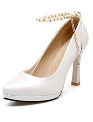 Feminino-Saltos-Plataforma Sapatos com Bolsa Combinando-Salto Agulha-Azul Rosa Branco-Courino-Escritório & Trabalho Casual Festas & Noite