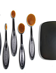 5 Makeup Brushes Set Synthetic Hair Synthetic Professional Travel Plastic Lip Face Eye MAKE-UP FOR YOU