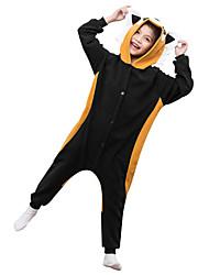 kigurumi Pyjamas Raton laveur Collant/Combinaison Fête / Célébration Pyjamas Animale Halloween Marron Couleur Pleine Polaire Pour Enfant