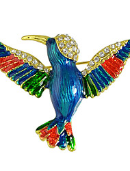 Bird Rhinestone Shape Brooch for Ladies